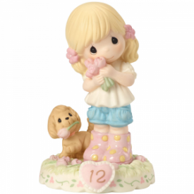 Growing In Grace, Age 12 Blonde Girl Figurine