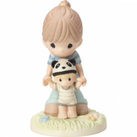 Behind You From Your Beary First Step Bisque Porcelain Figurine