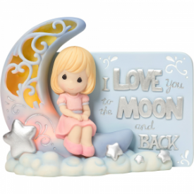 I Love You To The Moon And Back Lighted Resin Figurine