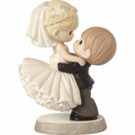 Best Day Ever Wedding Cake Topper Bisque Porcelain Figurine