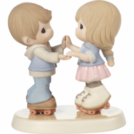 So Happy You Rolled Into My Life Bisque Porcelain Figurine