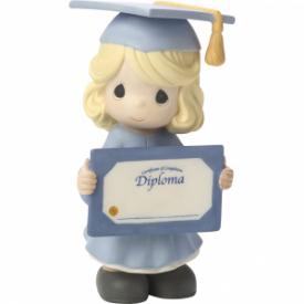 So Proud Of You! Congratulations! Bisque Porcelain Figurine