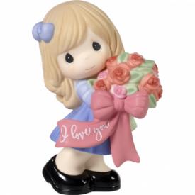 I Love You Bisque Porcelain Figurine, Girl
