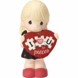 I Love You To Pieces Bisque Porcelain Figurine, Girl