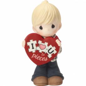 I Love You To Pieces Bisque Porcelain Figurine, Boy