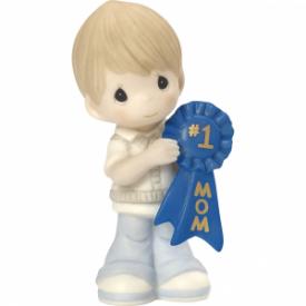 #1 Mom Bisque Porcelain Figurine, Boy