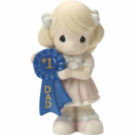 #1 Dad Bisque Porcelain Figurine, Girl