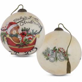Baby's First Christmas Petite Round-Shaped Glass Ornament