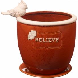 Believe Ceramic Planter
