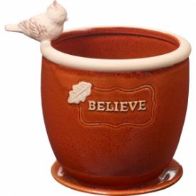 Believe Small Ceramic Planter