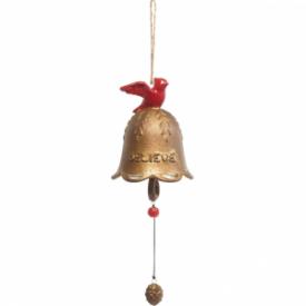 Believe Hanging Bell, Ceramic