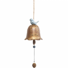 Faith Hanging Bell, Ceramic