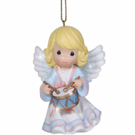 Angel With Drum Resin Ornament
