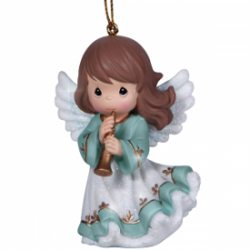 Angel With Horn Resin Ornament
