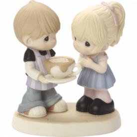 Love You A Latte Bisque Porcelain Figurine