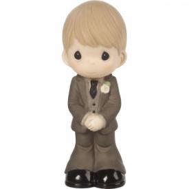 Mix and Match Wedding Cake Topper/Groom Figurine, Blond Hair, Light Skin Tone