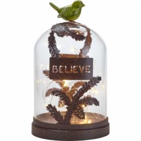 Believe Decorative Terrarium, Glass/Metal/Resin