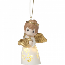 A Christmas Song Stays In My Heart Lighted Porcelain Ornament