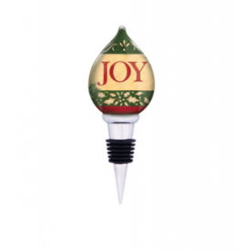 Christmas Joy Wine Stopper