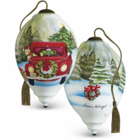 Christmas Delivery Princess-Shaped Glass Ornament