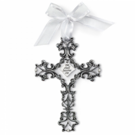 Two Shall Become One Decorative Wall Cross